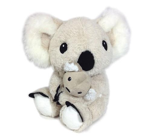 Sød og blød plys koala med baby