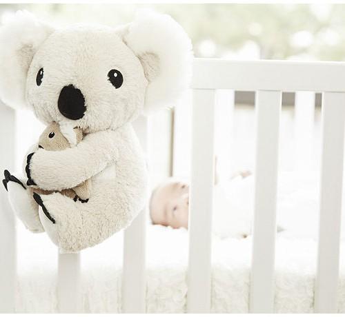 Mor koala og baby på seng