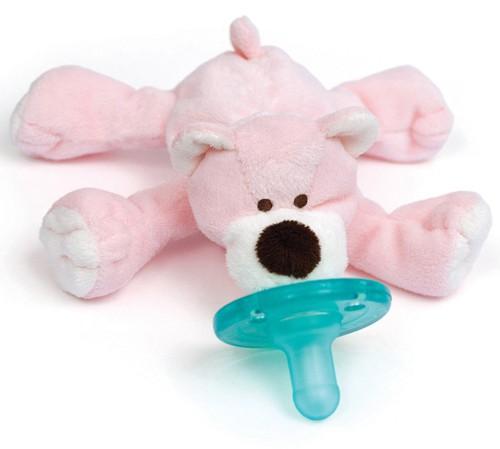 Wubbanub sut med lyserød bjørn. WubbaNub pacifier bear.