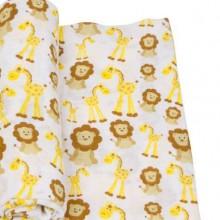 Miracleware muslin swaddle med løver og giraffer