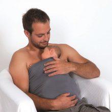 Hud mod hud kontakt med baby